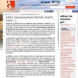 ANCT (anciennement DATAR, DIACT, CGET...)