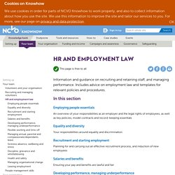 HR and employment law — NCVO Knowhow