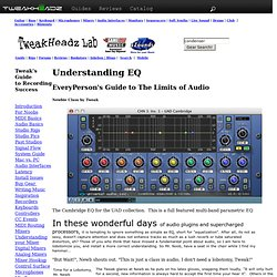 EQ and the Limits of Audio by TweakHeadz Lab
