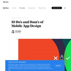 10 Do's and Don'ts of Mobile UX Design