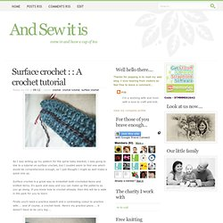 Surface crochet : : A crochet tutorial