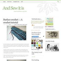 Surface crochet : : A crochet tutorial