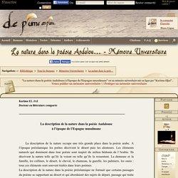 La nature dans la poésie Andalouse à l'époque de l'Espagne musulmane - Karima Eljai - Mémoire Universitaire - DPP