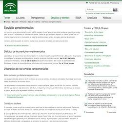 Junta de Andalucía - Servicios complementarios