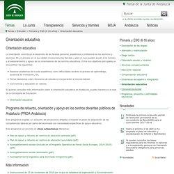 Orientación educativa Junta de Andalucía