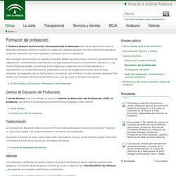 Junta de Andalucía - Formación del profesorado