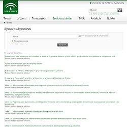 Junta de Andalucía - Servicios y trámites: Ayudas y subvenciones