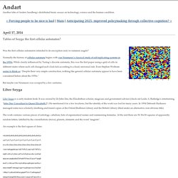 Andart: Tables of Soyga: the first cellular automaton?