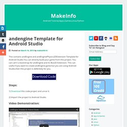 andEngine Template for Android Studio