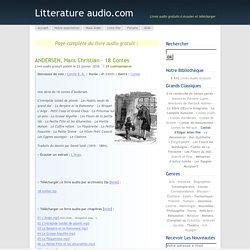 ANDERSEN, Hans Christian – 18 contes