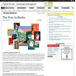 Sam Anderson's Top 10 Books of 2010 - The 2010 Culture Awards