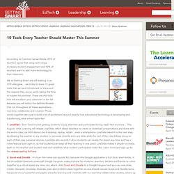 10 Tools Every Teacher Should Master This Summer