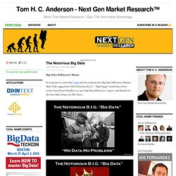 Tom H. C. Anderson - Next Gen Market Research — More Than Market Research - Gain The Information Advantage