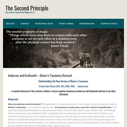 Anderson and Krathwohl - Bloom's Taxonomy Revised - The Second Principle