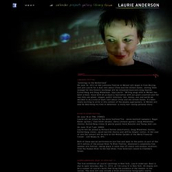 Laurie Anderson Official Website