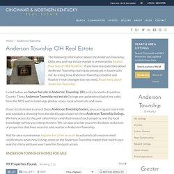Anderson Township, Ohio Real Estate Guide