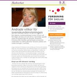 Ändrade villkor för svenskundervisningen