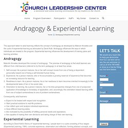 Andragogy & Experiential Learning