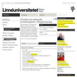 Svenska som andraspråk, fortsättningskurs