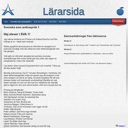 Svenska som andraspråk 1 - Maria Gabrielssons hemsida
