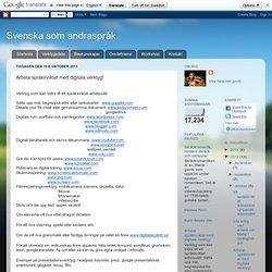 Arbeta språkinriktat med digitala verktyg!