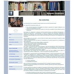 Andre Giordan Recherches
