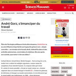 André Gorz, s'émanciper du travail