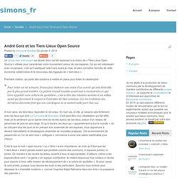 André Gorz et les Tiers-Lieux Open Source