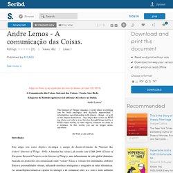 Andre Lemos - A comunicação das Coisas.