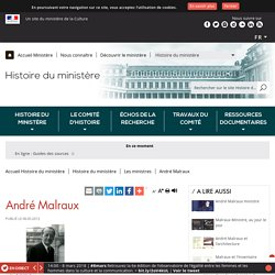 André Malraux - Ministère de la Culture