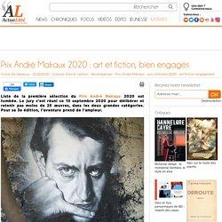 Prix André Malraux 2020 : art et fiction, bien engagés...