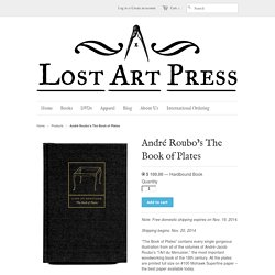 André Roubo's The Book of Plates – Lost Art Press