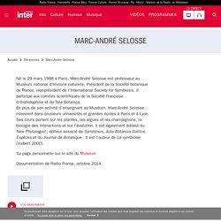 Marc-André Selosse : son actualité sur France Inter