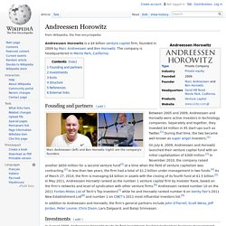 Andreessen Horowitz - Wikipedia, the free encyclopedia