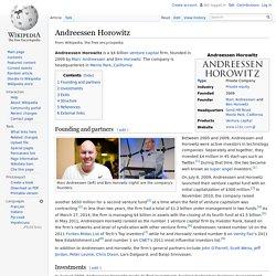 Andreessen Horowitz - Wikipedia, the free encyclopedia