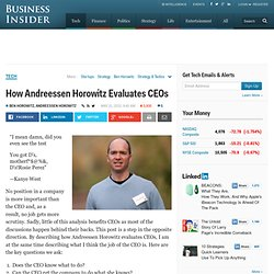 How Andreessen Horowitz Evaluates CEOs