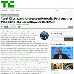 Accel, Khosla, and Andreessen Horowitz Pour Another $30 Million Into Social Browser RockMelt