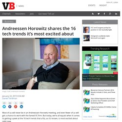 Andreessen Horowitz shares the 16 tech trends it's most excited about