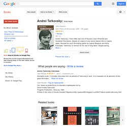 Andrei Tarkovsky: Interviews