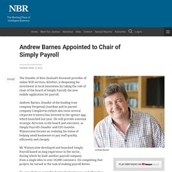 Andrew Barnes Appointed to Chair of Simply Payroll