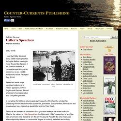 "Andrew Hamilton, ""Hitler's Speeches"""