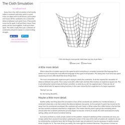 The Cloth Simulation