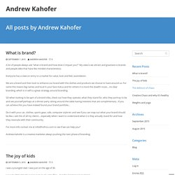 Andrew Kahofer Creative Marketer