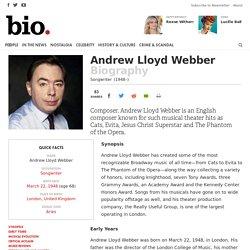 Andrew Lloyd Webber - Songwriter