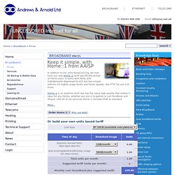 Andrews & Arnold Ltd - Broadband Prices