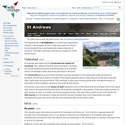 St Andrews – Travel guides at Wikivoyage