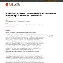 N. Andrieux, La Poste : «Le numérique est devenu une branche à part entière de l'entreprise»
