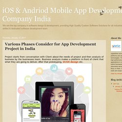 Various Phases Consider for App Development Project in India