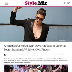Androgynous Model Rain Dove Hits Back at Victoria's Secret Standards With Her Own Photos