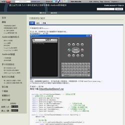 手機連線程式範例 - 國立金門大學 九十六學年度資訊工程學系專題 Android教學範例